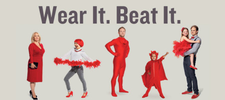 Wear Red 6th February for Wear It Beat It