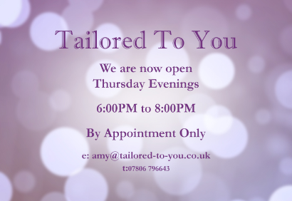 Wedding dressmaker Tailored To you Stapleford Nottingham Derby